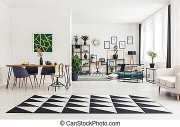 地毯, 在中, 餐厅