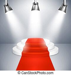 地毯, 指揮臺, 紅色