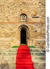 地毯, 紅色, 教堂