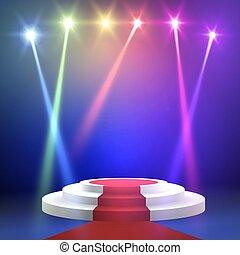 地毯, 輪, 紅色, podium.