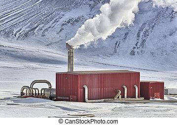 地熱, 工場