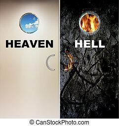地獄, 天国