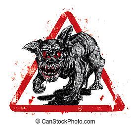 地獄, 黒い犬