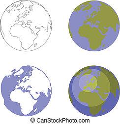 地球の 地球, セット, 001