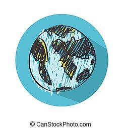 地球の 地球, ベクトル, アイコン