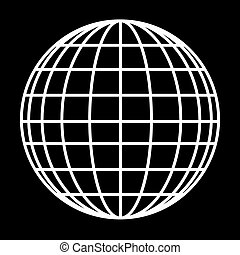 地球の 地球, ベクトル, -, アイコン