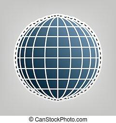 地球の 地球, 印。, vector.