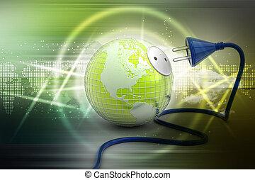 地球の 地球, 送電線