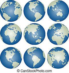 地球儀, ベクトル