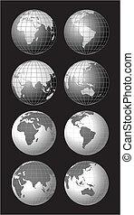 地球儀, 世界