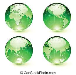 地球儀, 地球, グロッシー, 地図