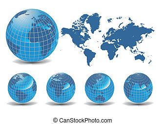 地球儀, 地球, コレクション