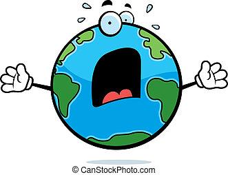 地球, おびえさせている