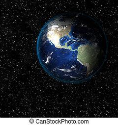 地球, から, space.