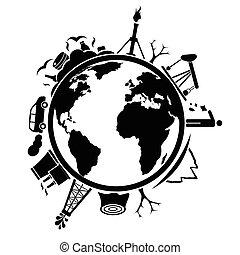 地球, ごみ, 汚染