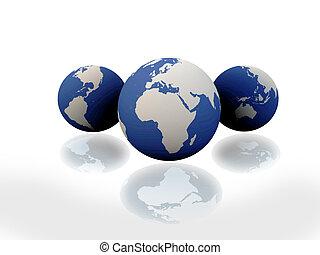 地球, ∥で∥, 大陸