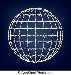 地球, アイコン, 地球