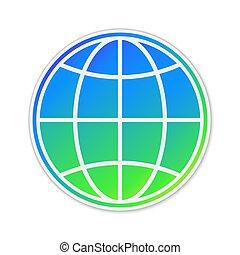 地球, アイコン, isolated., ベクトル, 地球