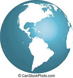 地球, アメリカ, 3d