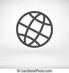 地球, -, イラスト, ベクトル, 地球, アイコン