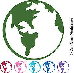 地球, セット, 図画