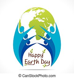 地球, デザイン, 日, 幸せ
