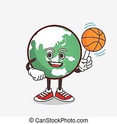 地球, バスケットボール, 特徴, 漫画, 惑星, マスコット
