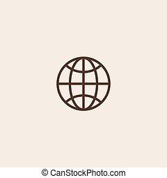 地球, ベクトル, アイコン