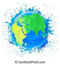 地球, ベクトル, イラスト