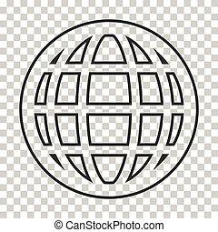 地球, ベクトル, 地球, アイコン