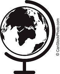 地球, ベクトル, 地球, 世界, icon., gl, テーブル