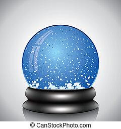 地球, ベクトル, 雪