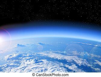 地球, 光景, スペース