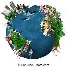 地球, 全体的な 村