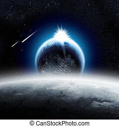 地球, 在上方, 月亮