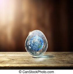 地球, 在, the, 蛋