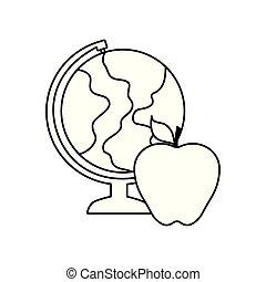地球 地球, フルーツ, アップル