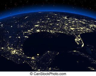 地球, 夜