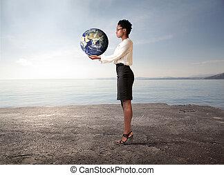 地球, 女