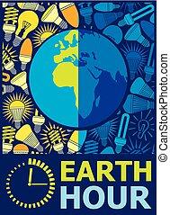 地球, 小時, 設計