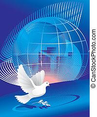 地球, 平和, 鳩