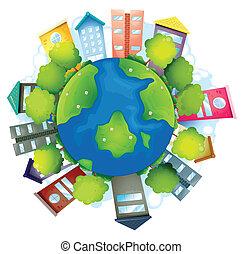 地球, 建物, 自然, 人工である, 資源