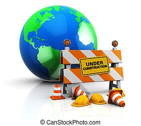地球, 建設, 下に