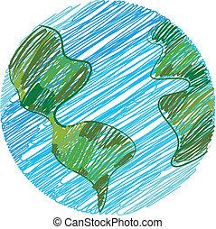 地球, 心不在焉地亂寫亂畫
