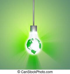 地球, 掛かること, 電球