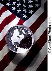 地球, 旗, アメリカ