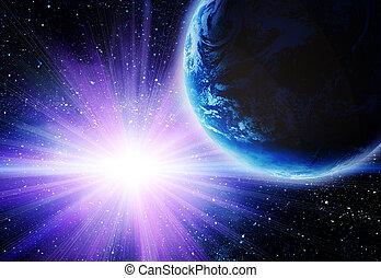 地球, 月, スペース