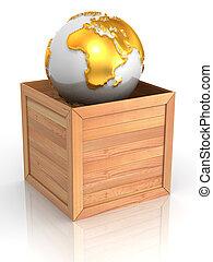 地球, 木枠