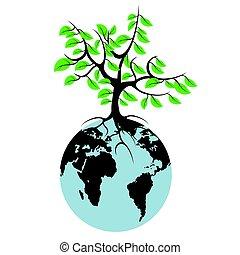 地球, 木
