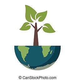 地球, 木, 世界